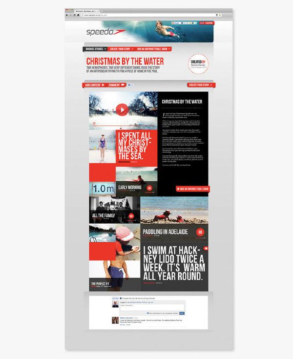 Speedo: Unforgettable Swims victoria hannan #speedo #design #web