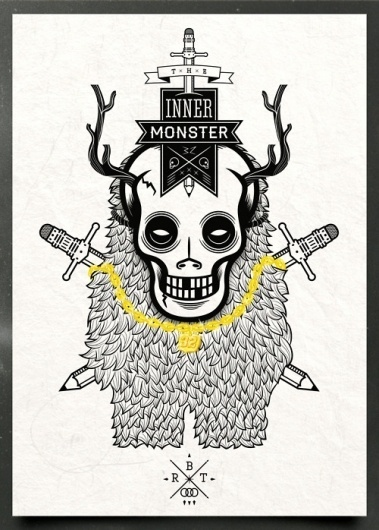 roboto #draw #inner #illustration #monster #skull