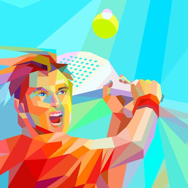 Estrella Damm World Padel Tour by Charis Tsevis on Behance #vector #polygon #tennis
