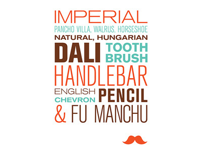 Types of Moustaches #dali #moustache #movember #typography