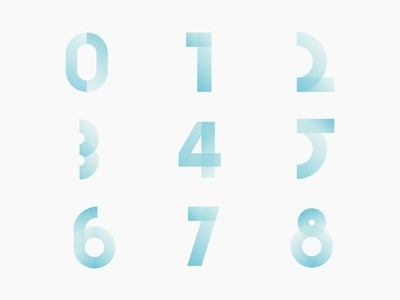 Fresh ice number collection #typograhpy #vector #collection #illustration #number #numbers #type #ice