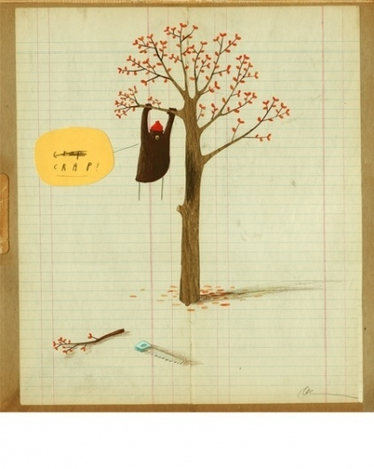 Oliver Jeffers - Illustration #bear #tree #leaves