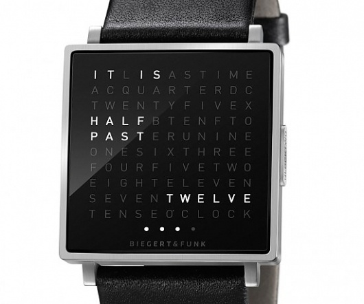 QLOCKTWO W | Geek&Hype #time #watch #clock #montre #typo