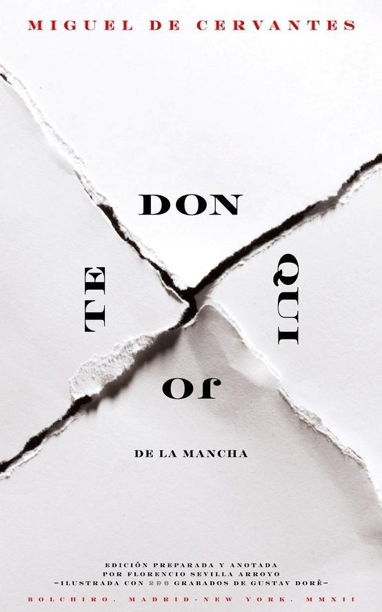 DON QUIJOTE DE LA MANCHA (Miguel de Cervantes). Portada libro digital (eBook), editorial BOLCHIRO (Madrid Nueva York). #design #book #cover #poster #layout #typography