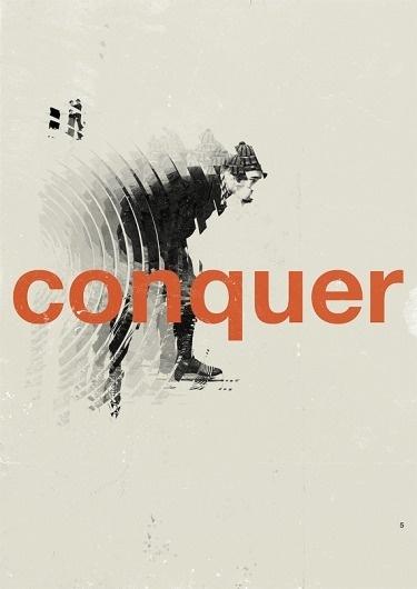 Marius Roosendaal—MSCED '11 #conquer #design #graphic #poster