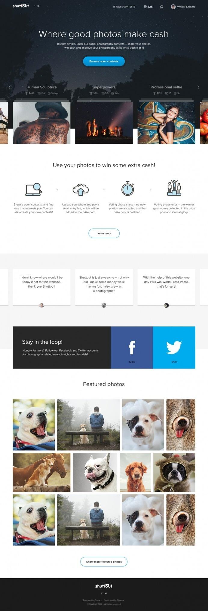Shuttout Homepage by Maciej Żelaznowski