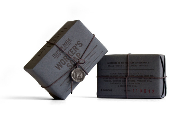 Hudson Made: Worker's Soap by Hovard Design #packaging #courier #typography