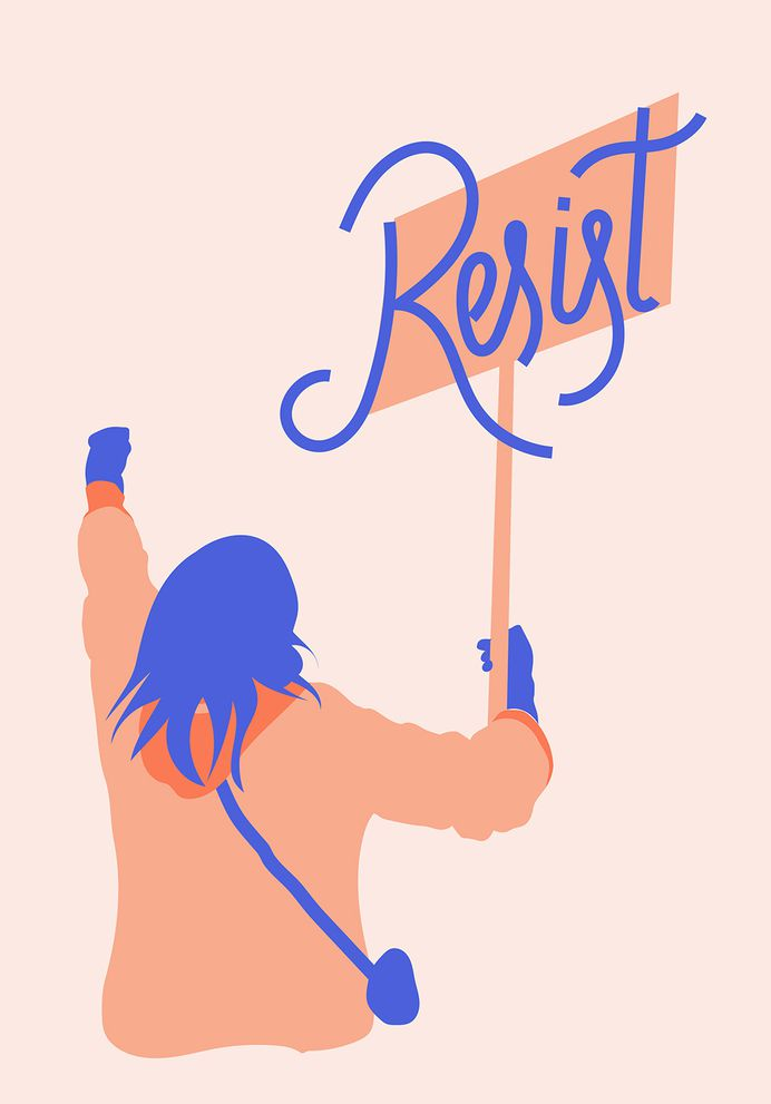 Resist - We've created this artwork to show our support to the Women's March. We truly believe the world can be a place where people of all ages, genders, colours, religions, sexual orientations, backgrounds, can be united and live in equality.