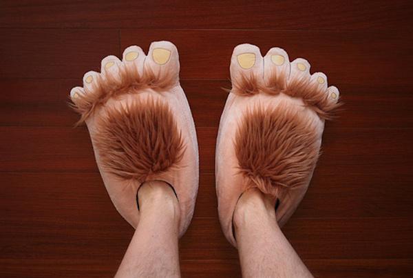 Furry Adventure Slippers #tech #gadget #ideas #gift #cool