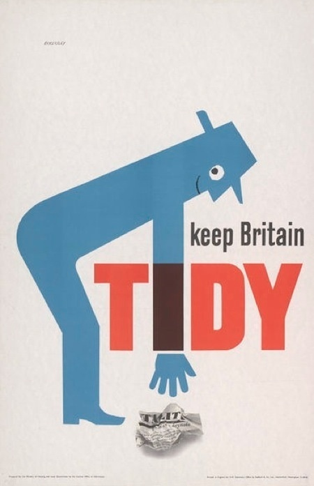Tom Eckersley exhibition at LCC #design #poster