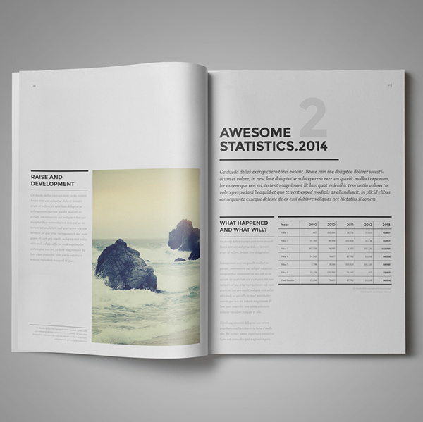 Design Marketing Brochure / A4 and US Letter on Behance #annual #report