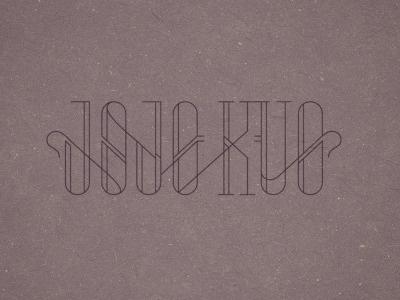 Dribbble - JoJo Kuo by Adam Grabowski #hairline #typography