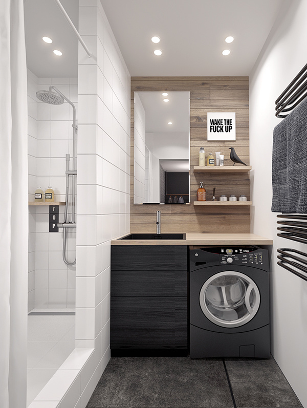 Bathroom, laundry