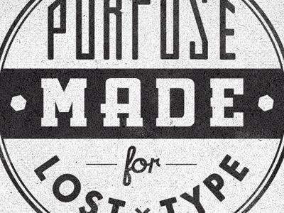 Dribbble - Losttype Badge2 Cut by Richie Stewart #type #logo