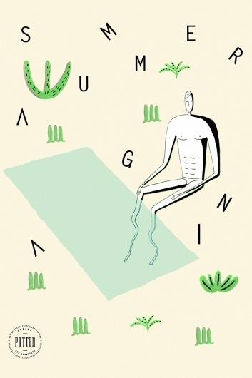 summer_again #illustration #wallpaper #patten #typography