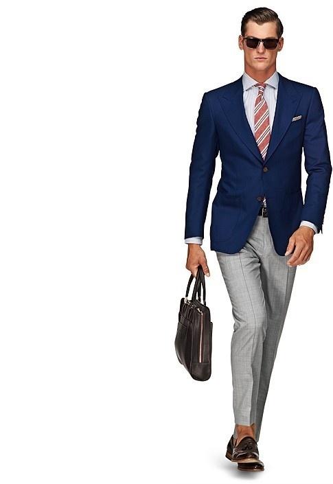 Jacket Blue Plain Washington Half C551 | Suitsupply Online Store #suit