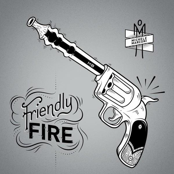 http://cargocollective.com/michelemarconi #vector #gun #design #graphic #illustration #vintage #type #typography