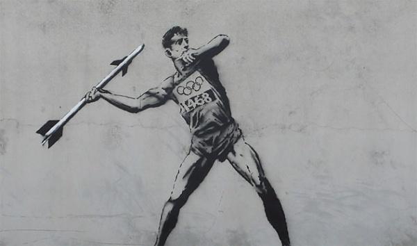 Banksy Goes to the Olympics #art