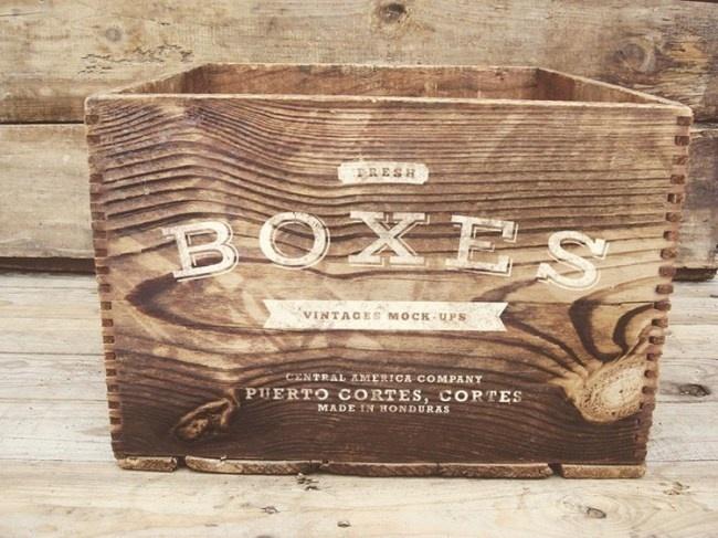 Free Vintage Boxes Mockup