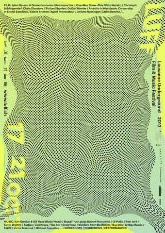 LUFF 2012 (New) : DEMIAN CONRAD DESIGN #luff #2012 #acid #demian #conrad #identity #poster #lausanne