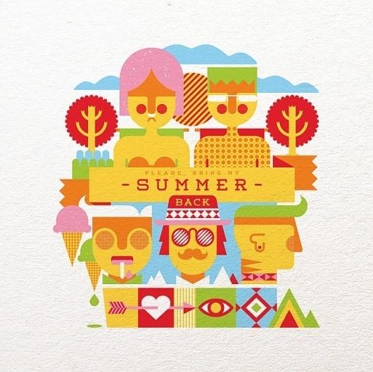 Bring my Summer Back - Fernando Volken Togni #back #bring #summer #illustration