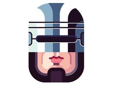 Dribble_robocop #illustration #robocop