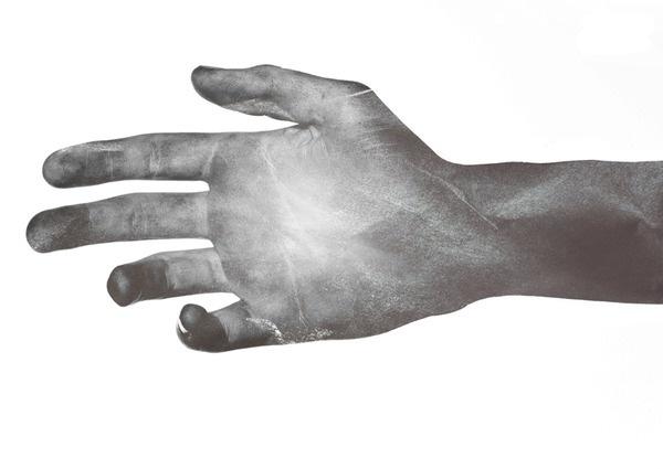 Dry Chocolate #hand #chocolate #illustration #giga #dry #kobidze
