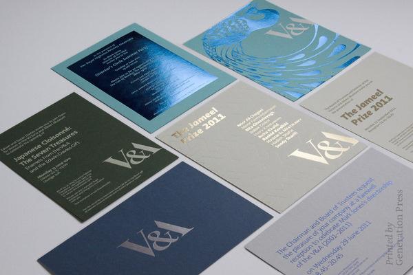Generation Press #v&a #foil #invitation