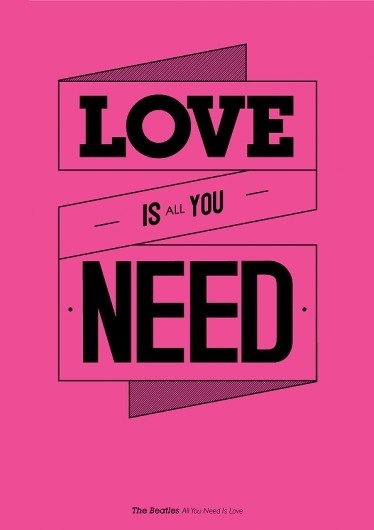 music philosophy #beatles #design #the #poster #music #love #typography