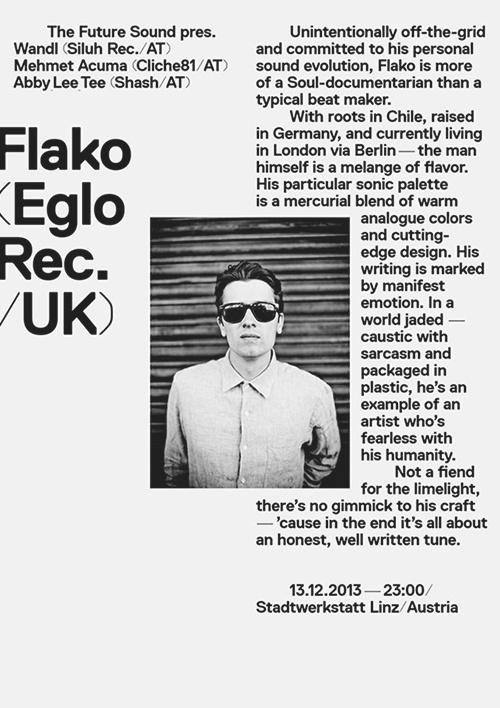 The Future Sound — Flako Poster #flako #austria #ortner #flak #the #simple #clean #sound #poster #future