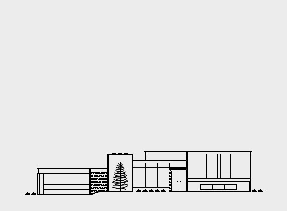 Mid-Century Modern Homes Collection on Behance. Bergers House — 1967. Architect, Chuck Carter #chuck #house #mid-century #modern #home #simple #illustration #carter