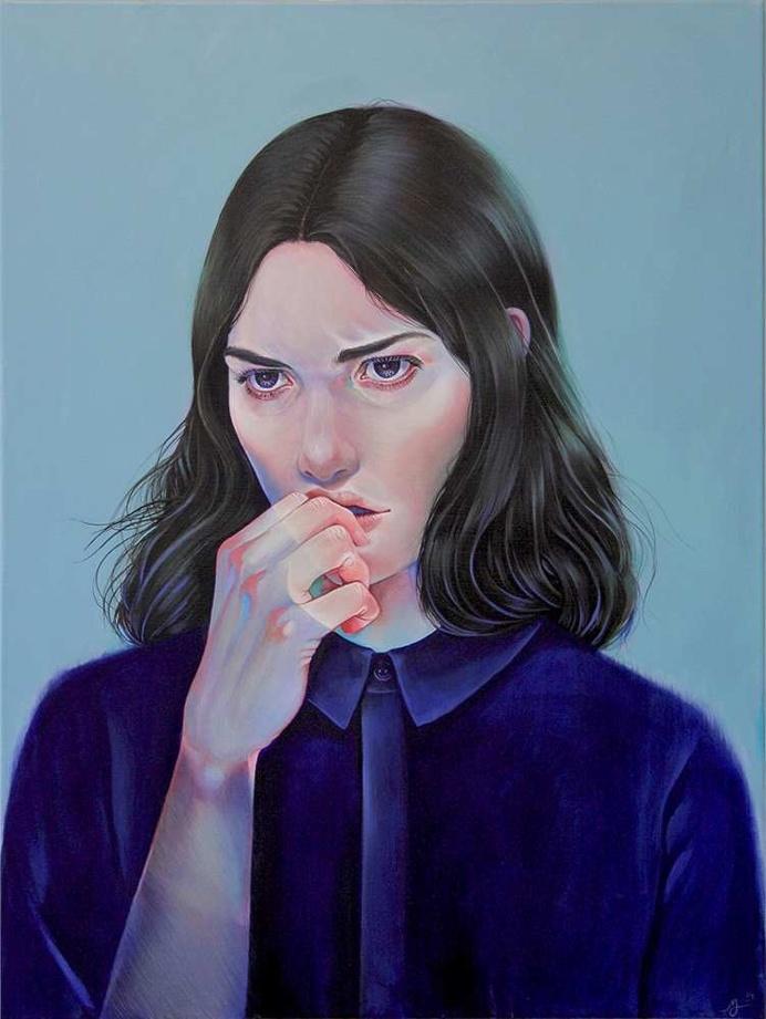 Acrylic Portrait Paintings by Martine Johanna
