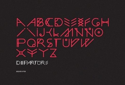 Departure, POGO | art & design boutique #pogo #departure #design #type #typography