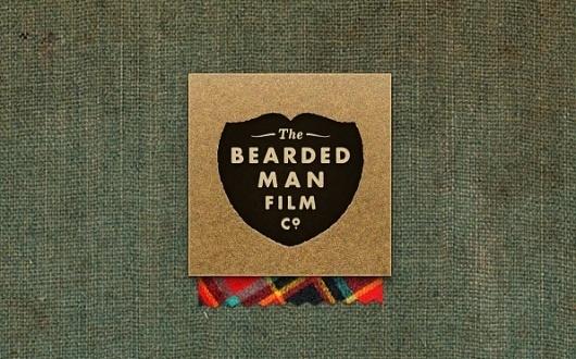 Ryan D. Harrison Design » Bearded Man Film Co. #logo #beard #texture