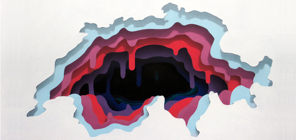 """1010 """"Abyss"""" #layers #cave #minimalism #texture #illustration #abyss #collage #paper"""