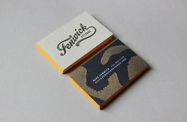 FENWICK_PYTHONS_BUSINESS_CARDS_J_FLETCHER #type #snakeskin