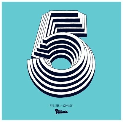 Baubauhaus. #blue #five #typo