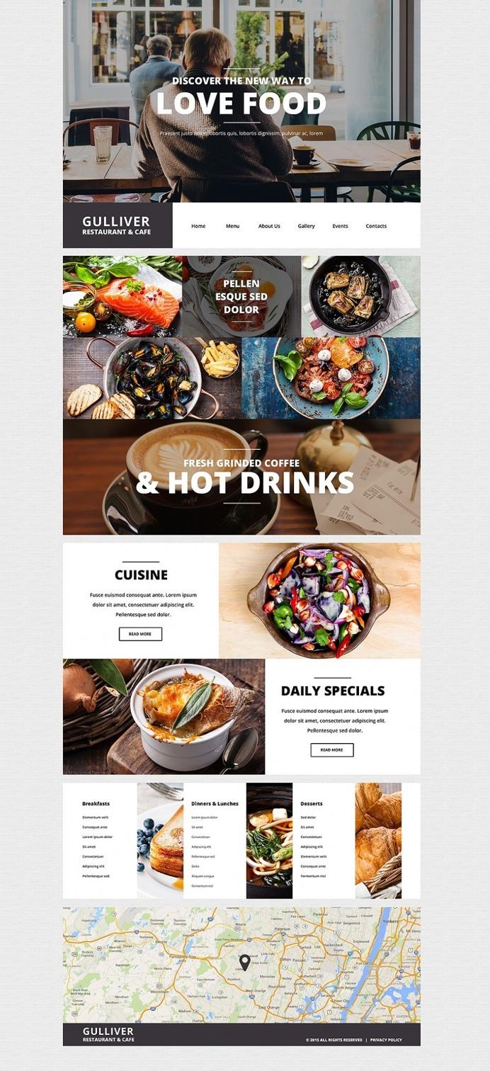 Gulliver – Modern Cafe and Restaurant WordPress Theme