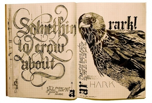 crowmoleskin.jpg (image) #process #sketch #typography