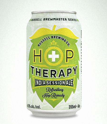 Russell Hop Therapy Can #packaging #beer