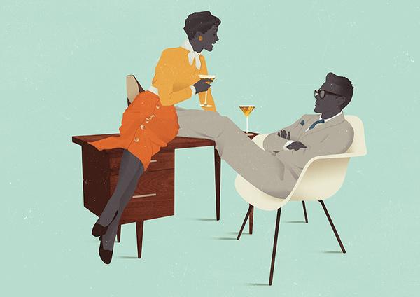 Illustrations by Jack Hughes — AGENT PEKKA #eases #modern #illustration #furniture #mid #men #century #mad