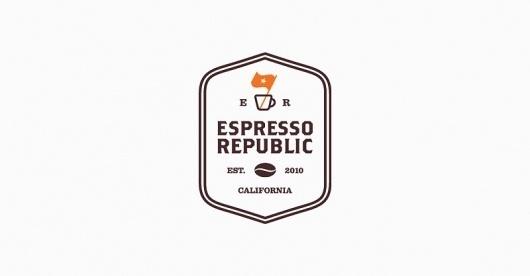 Espresso Republic | Salih Kucukaga Design Studio #branding #icon #symbol #coffee #logo