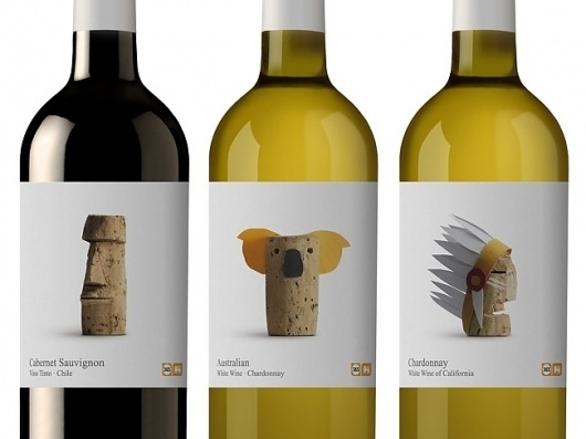 Wines Of The World | Packaging of the World: Creative Package Design Archive and Gallery #packaging #wine #fmcg