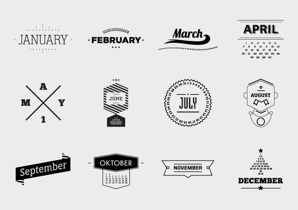 Motion Calendar emilkozole #old #logos #white #branding #motion #school #calendar #month #black #vintage #and