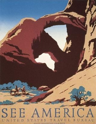 See America: Arches #poster #utah #desert #travel #cowboys #adventure #national parks #wpa #arches #arches national park
