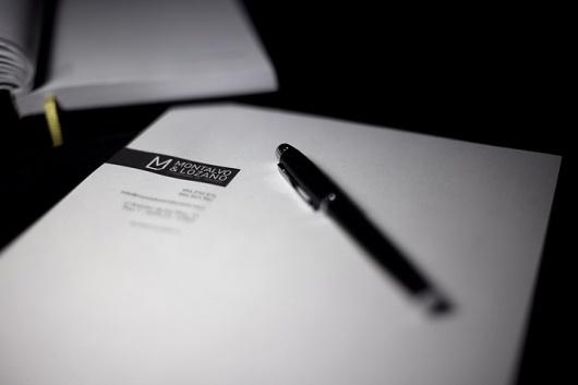 Imagen corporativa Montalvo & Lozano   nodiseño #negro #identidad #corporativa #corporate #identity #logotipo