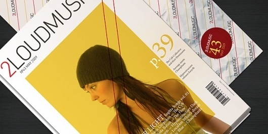 2LoudMusic by Niketo #girl #print #yellow #cover #music #package #magazine