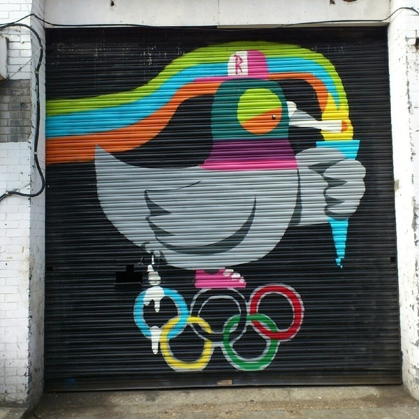 Lon Don 2012 on Behance #london #olympics #pigeon #smoke