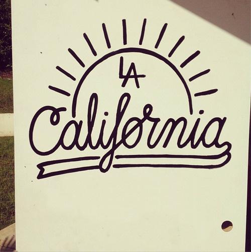 Los Angeles, CA #los #painted #door #on #la #angeles #ca #hand #california #typography