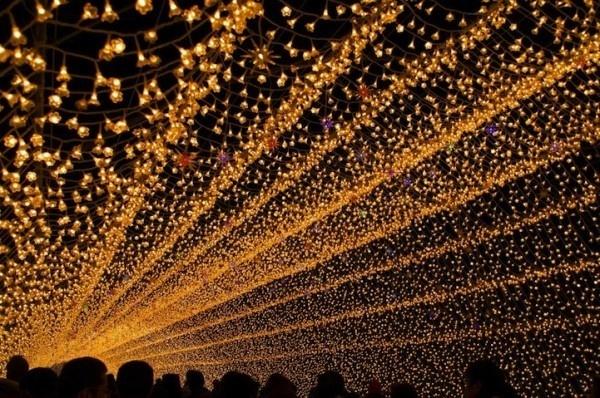 Japans Tunnel of Lights 7 #tunnel #light #japan #installation
